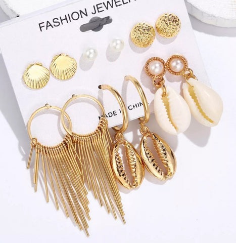 Seashell Fringe Earrings