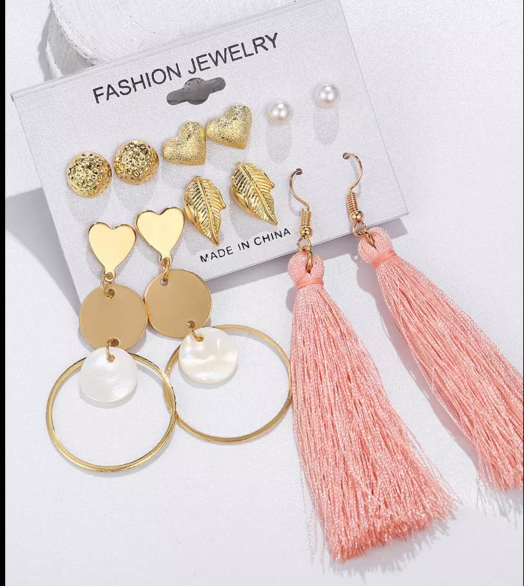Tassel Hearts Earrings