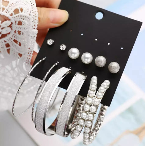 Stud & Pearl Earrings
