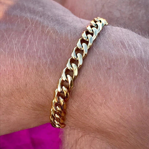 Trendy Cuban Gold Bracelet