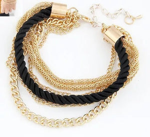Black Braided Rope Bracelet