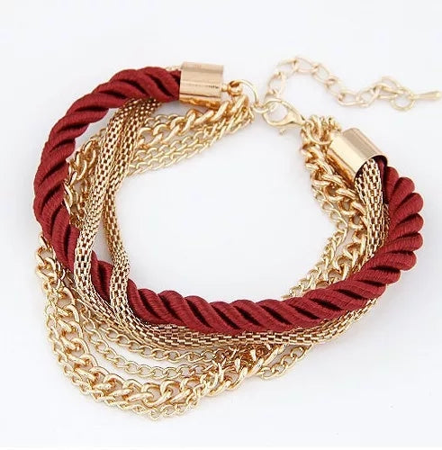Red Braided Rope Bracelet