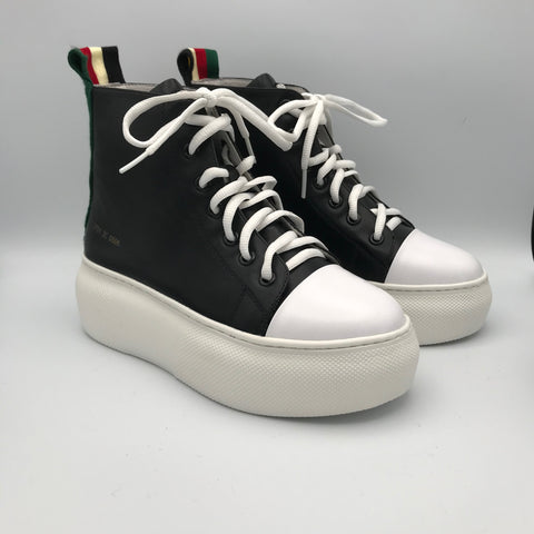BB.GG Increased Inner Thickened Bottom Calf Leather Trainer