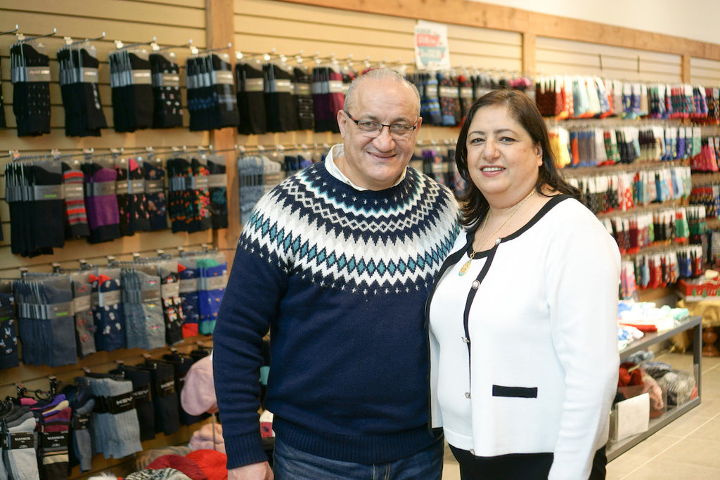 Our Sock Shoppe owners