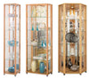 Lockable Beech Glass Display Cabinets