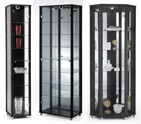 Single, Double & Corner Glass Display Cabinets