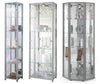 Lockable Silver Glass Display Cabinets