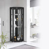 Corner Black Glass Display Cabinet