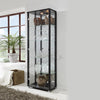 Double Black Glass Display Cabinet