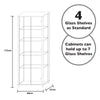 Double Glass Display Cabinet Dimensions