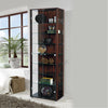 Wenge Double Glass Display Cabinet