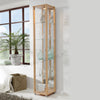 Home Single Glass Display Cabinet Beech