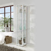 White Single Glass Display Cabinet