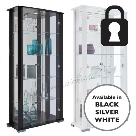 Extra Wide Double Glass Display Cabinet