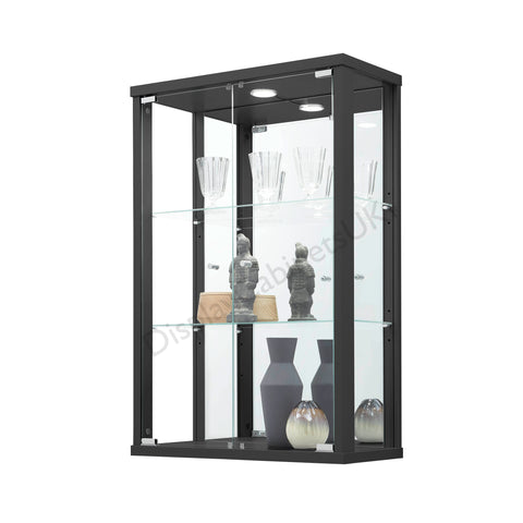 Black Wall Hanging Glass Display Cabinet