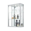 Silver Wall Hanging Glass Display Cabinet