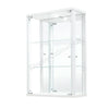 White Wall Hanging Glass Display Cabinet
