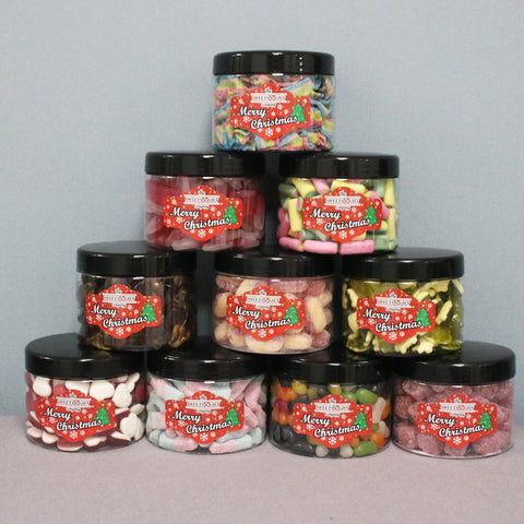 3 Sweets Jars with free gift bag