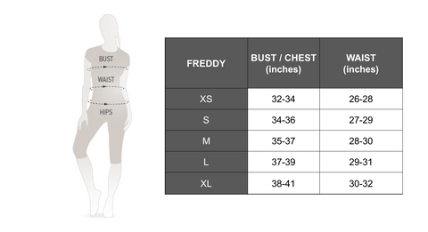 FREDDY DIWO CURVE SIZE GUIDE