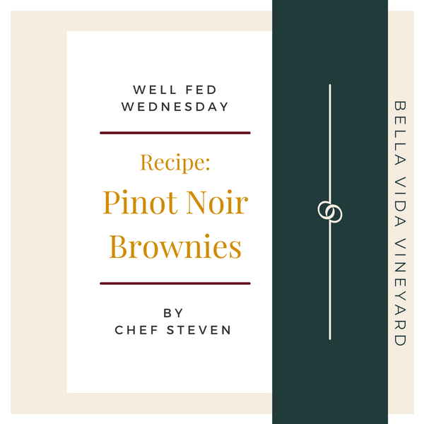Chef Steven's Pinot Noir Brownie Recipe