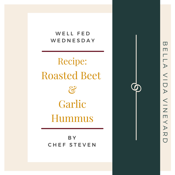 Chef Steven's Roasted Beet & Garlic Hummus Recipe