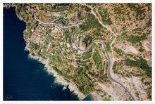 Load image into Gallery viewer, Amalfi Coast Aerial View Premium Semi-Glossy Print