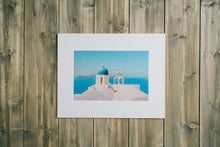 "Load image into Gallery viewer, ""Blue Dome"" Santorini Gallery Board"