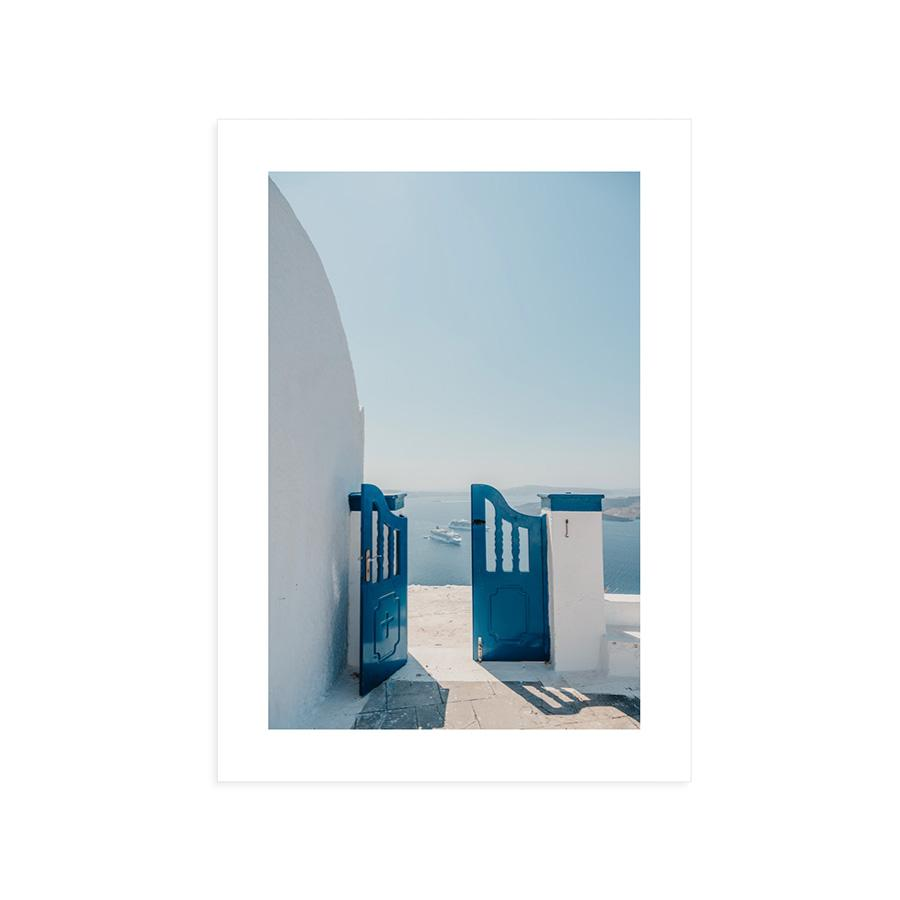 """Blue Door"" Santorini Gallery Board"