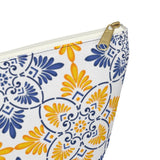 Capri Tiles Ceramic Accessory Pouch w T-bottom Travel Bag - AMALFITANA STORE