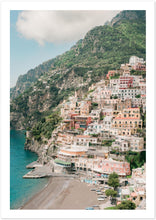 "Load image into Gallery viewer, ""Cliff View"" Positano Premium Semi-Glossy Print"
