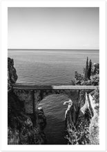 "Load image into Gallery viewer, ""Fiordo"" Furore Bridge B&W Premium Semi-Glossy Print"