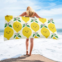 "Load image into Gallery viewer, ""Happy Lemons"" Beach Towel - AMALFITANA STORE"