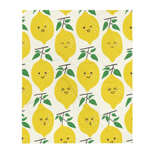 "Load image into Gallery viewer, ""Happy Lemons"" Throw Blanket - AMALFITANA STORE"