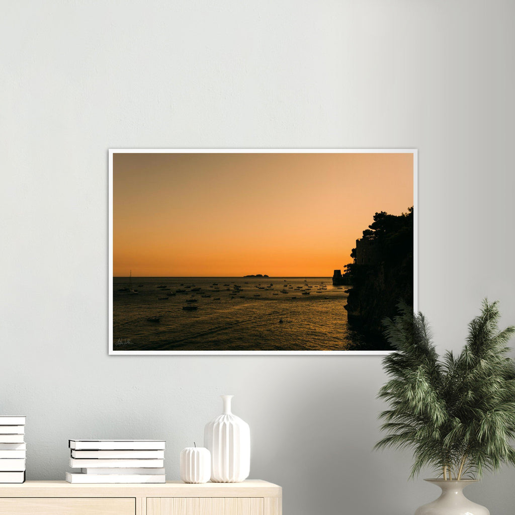 """Li Galli"" Sunset in Positano Premium Semi-Glossy Print"