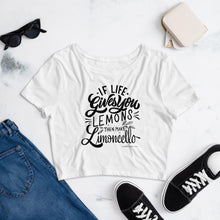 "Load image into Gallery viewer, ""Limoncello"" Women's Crop Tee - AMALFITANA STORE"
