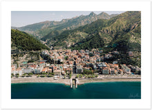 Load image into Gallery viewer, Maiori Aerial View Premium Semi-Glossy Print