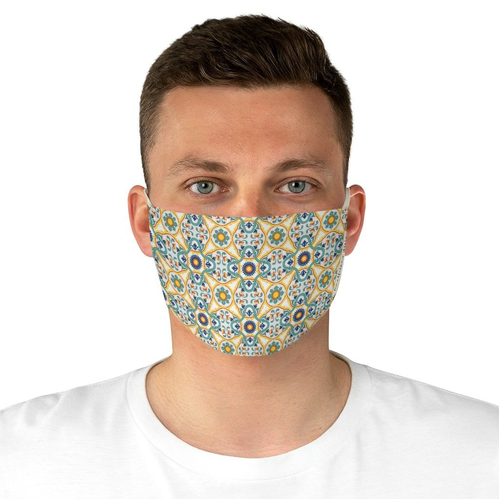 Positano Tiles Fabric Face Mask - AMALFITANA STORE