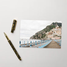 Load image into Gallery viewer, Positano Umbrellas Postcard