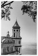 Load image into Gallery viewer, Praiano Church B&W Premium Semi-Glossy Paper Poster