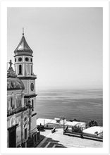 "Load image into Gallery viewer, ""Praiano Church"" B&W Premium Semi-Glossy Print"