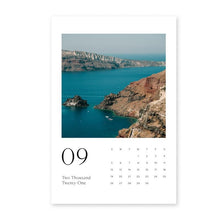 Load image into Gallery viewer, Santorini Photo Calendar 6x9in (15x23cm) with Wood stand