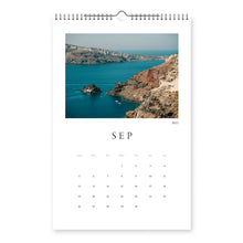 Load image into Gallery viewer, Santorini Photo Calendar 2021 -  11x17in (28x43cm) with Spiral