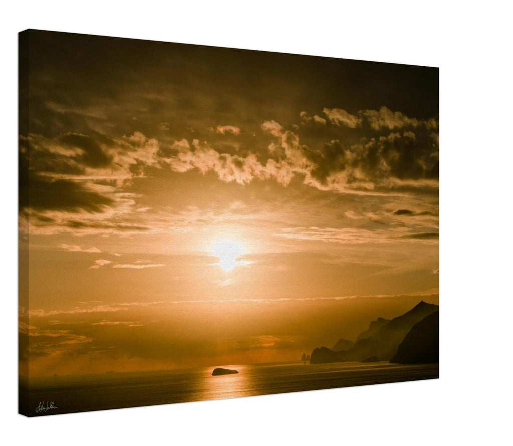 """Sunset"" Amalfi Coast Wall Art Canvas"