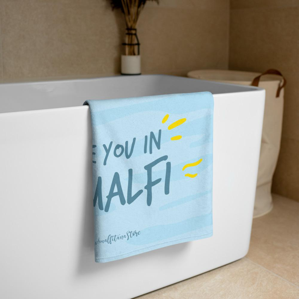 "Sweet Summer ""See you in Amalfi"" Beach Towel - AMALFITANA STORE"