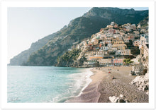 "Load image into Gallery viewer, ""The Beach"" Positano Premium Semi-Glossy Print"