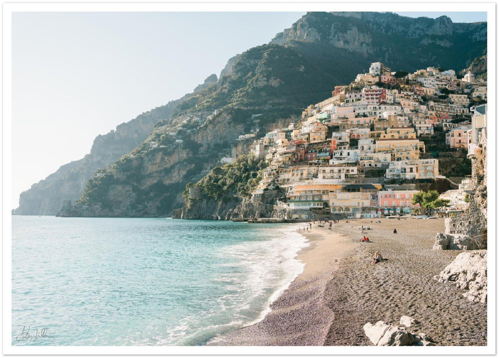 """The Beach"" Positano Premium Semi-Glossy Print"