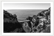 "Load image into Gallery viewer, ""The Bridge"" Furore B&W - Wooden Framed Print"
