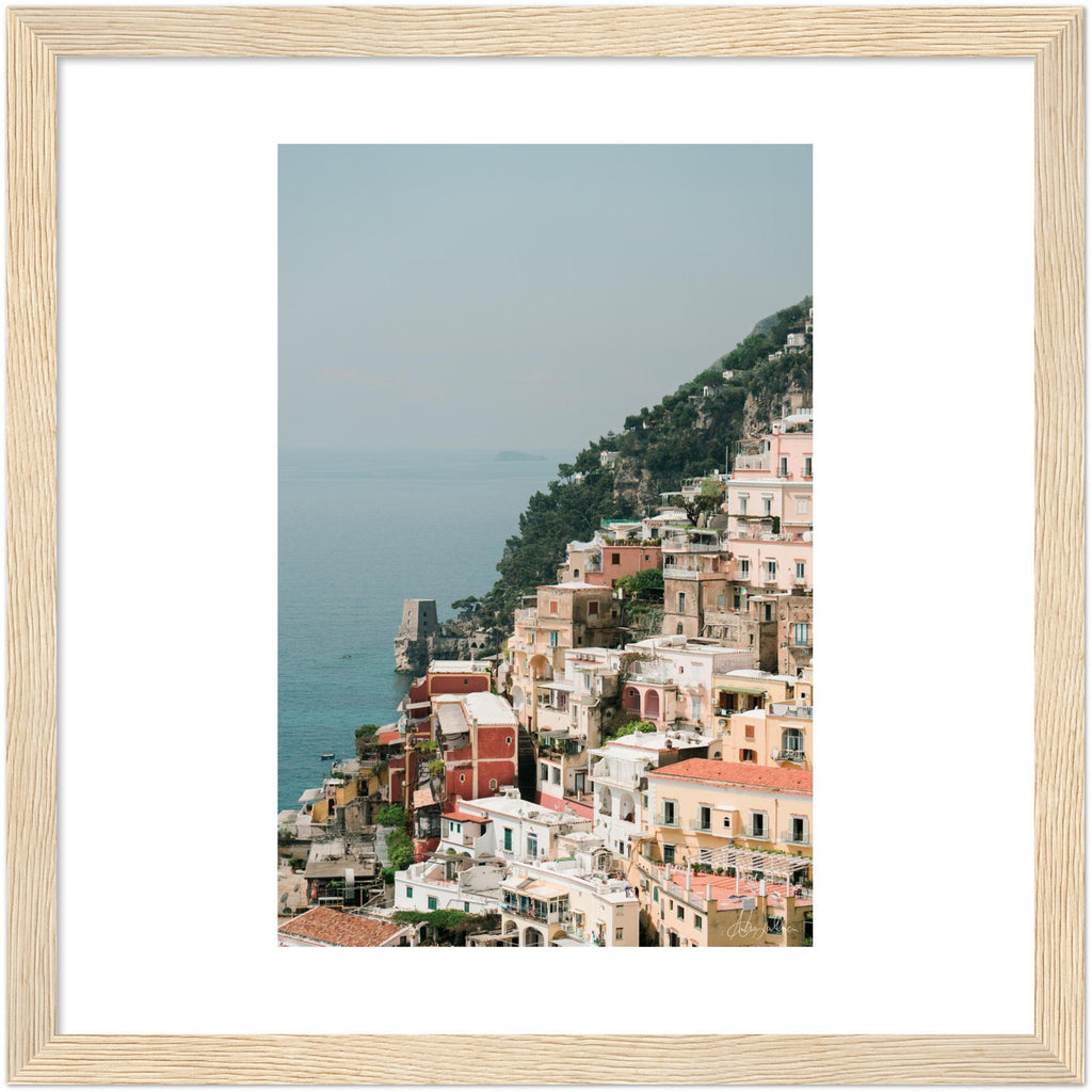 The Cliff - Positano Wooden Framed Print