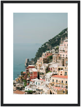 Load image into Gallery viewer, The Cliff - Positano Wooden Framed Print