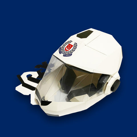 DIY Traffic Police Helmet 3D Paper Mask